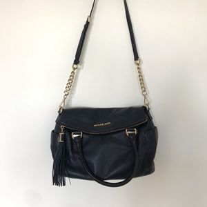 Michael Kors Weston Crossbody Satchel Navy Blue